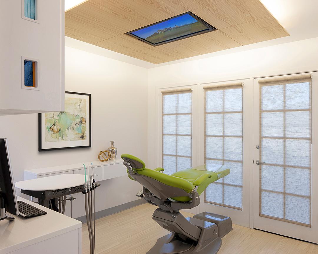 Dental office treatment room chair