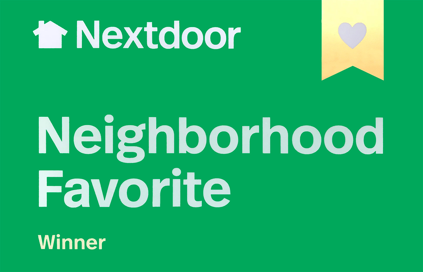 NextDoor Award presented to Magnolia Family Dentistry the Practice of Dr. Matt Yarborough